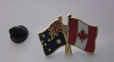 Australia & Canada Flags Friendship Flag Pin Badge Australian Canadian Flag