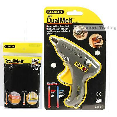 Stanley Tools 15W 230V Mains Powered Mini Trigger Glue Gun and 24 Glue Sticks