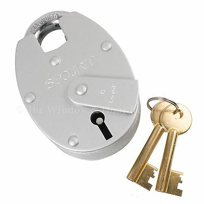 Securit 6 Lever Close Shackle Padlock 65mm Double Plate Heavy Duty 5yr Guarantee