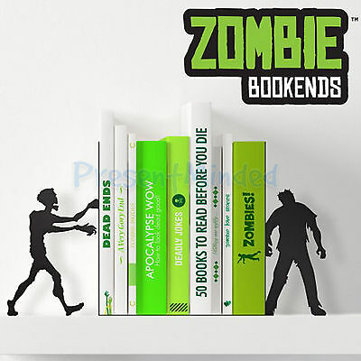 Zombie Bookends Novelty Black Metal Book Ends Shaped Like A Pair Of Zombies