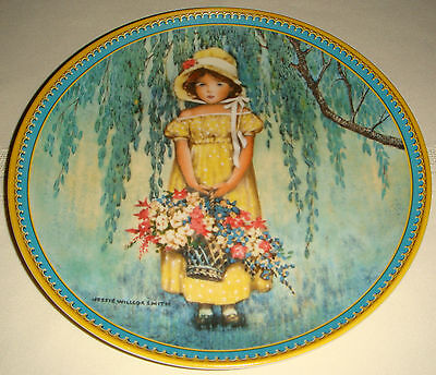 JESSIE WILLCOX SMITH Childhood Memories Weeping Willow & Flowers EASTER Plate