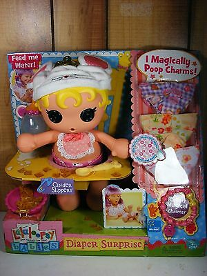 Lalaloopsy Babies Diaper Surprise CINDER SLIPPERS baby doll diapers charms Eats