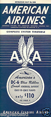 Airline Timetable - American - 16/07/50