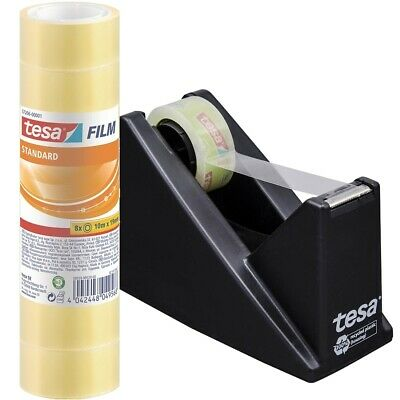tesa 59327 Tischabroller + 16x Klebe Film 57206 10m x 19mm Abroller Eco & Clear