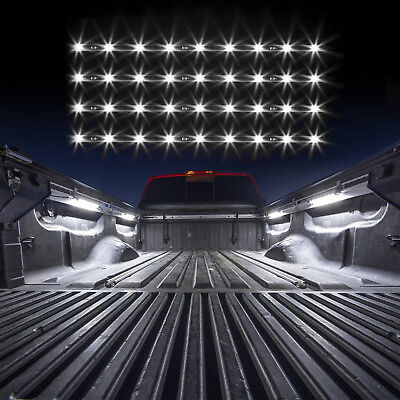 Single Color LED 4 pcs Tonneau Cover Bed Light Kit from XKGLOW Auto OFF - BLUE