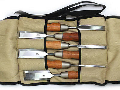 Japanese Hybrid Chisel With Long Blade Red Oak Handle 6-Piece Set DT710287