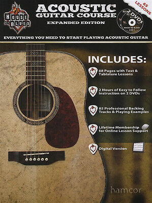 House of Blues Acoustic Guitar Course Expanded Edition TAB Book/2DVDs