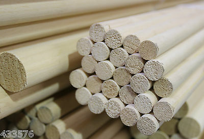 Hardwood Dowel x 600 mm Lengths & Diameters 4mm - 38mm Good Quality Hardwood