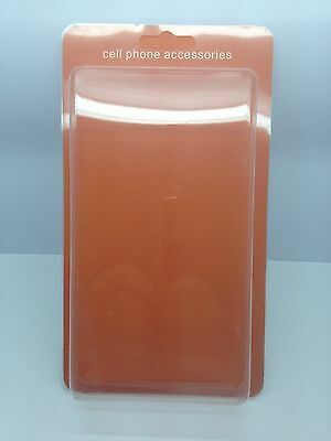 "Lot Of 100 New Cell Phone Accessory Blister + Insert 8"" X 4"".5 X 1"" Orange"