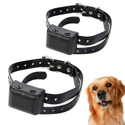 Waterproof Rechargeable MEDIUM LARGE ANTI BARK NO BARKING SHOCK COLLAR FOR 2 DOG