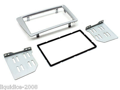 HONDA CIVIC 2001 to 2006 EP2 & EP3 DOUBLE DIN SILVER FASCIA ADAPTOR CT23HD30