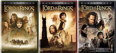 THE LORD OF THE RINGS TRILOGY 3 DVD SET WIDESCREEN 6 DISC TOTAL BRAND NEW