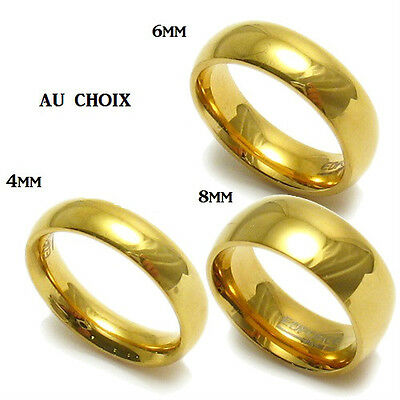 MEN WOMEN 18k Gold Plated Ring Wedding Band Size 6 to 13 4mm 6mm 8mm NEW