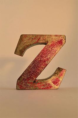 Fantastic Retro Vintage Style Red 3D Metal Shop Sign Letter Z Advertising Font