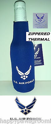 OFFICIAL US AIR FORCE Wings Beer Soda Water BOTTLE JACKET Wrap Cooler KOOZIE