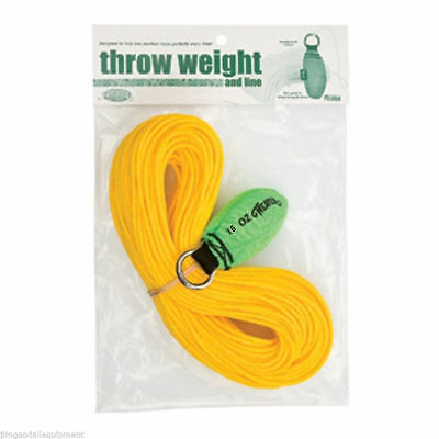 -Weaver Throw Weight & Line Kit,16oz x 150' Rope, Neon Green Throw Weight