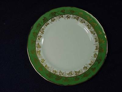 ROYAL WORCESTER ARUNDEL BREAD & BUTTER PLATES GREEN & GOLD