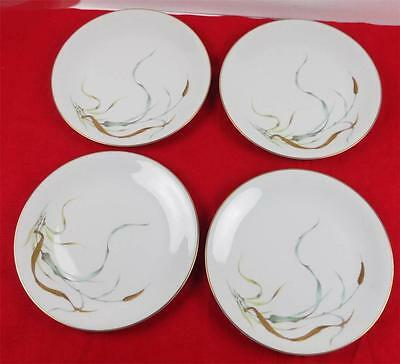 4 Vintage H & Co Heinrich - Selb, Bavaria Germany, DINNER PLATES Wheat & Leaves