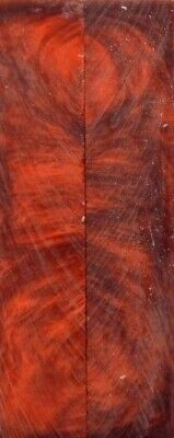 """Copper Inlace Acrylester #63 (2 pc) Mini Knife Scales  3/16""""x1""""x5""""    004"""
