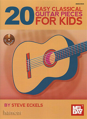 20 Easy Classical Guitar Pieces for Kids TAB Music Book/CD
