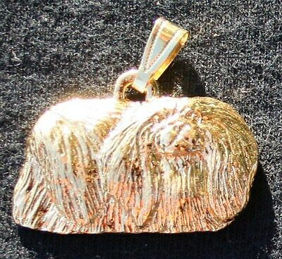 PEKINGESE Dog 24K Gold Plated Pewter Pendant Jewelry USA Made