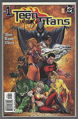 TEEN TITANS # 1 2nd PRINT COLOR VARIANT DF SIGNED MICHAEL TURNER COA # 9