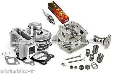 Cylindre piston + culasse + bougie pour scooter chinois 50cc 4T Yiying Znen