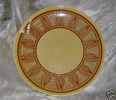 LOT 2 TAYLOR SMITH TAYLOR HONEY GOLD BREAD PLATES TST VINTAGE REPLACEMENT CHINA