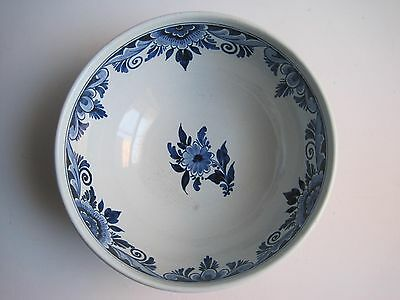 Antique Hand Painted Royal Oud Deft Pottery Bowl Made In Holland Boch Signed
