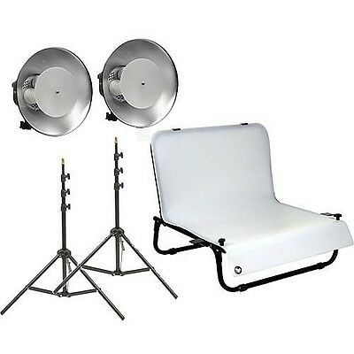 Impact Desktop Studio Shooting Table Two Light Kit (120VAC)