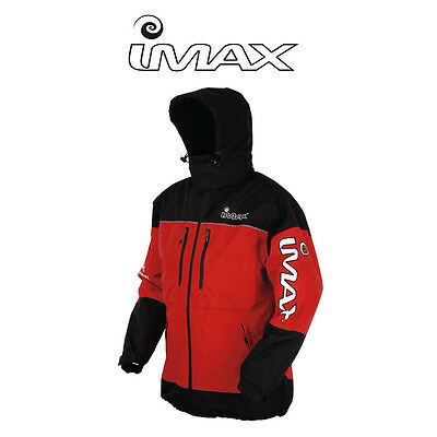 IMAX Thermo Boat Jacket - Red / Black 100% Waterproof - All Sizes