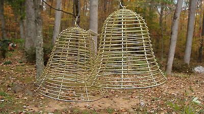 (2) LARGE GOLD WIRE  DECORATIVE BELLS  CHRISTMAS HOLIDAY DECORATIONS NEW