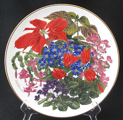 FRANKLIN PORCELAIN FLOWERS OF THE YEAR PLATE COLLECTION WEDGWOOD DECEMBER mint