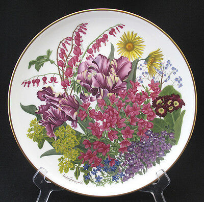 FRANKLIN PORCELAIN FLOWERS OF THE YEAR PLATE COLLECTION WEDGWOOD MAY mint