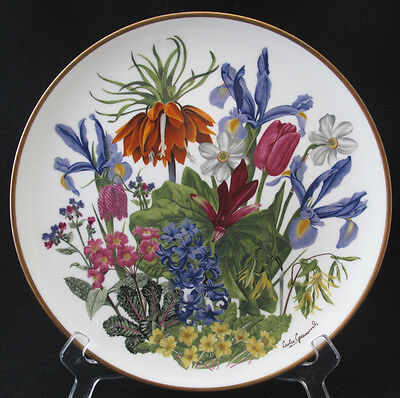 FRANKLIN PORCELAIN FLOWERS OF THE YEAR PLATE COLLECTION WEDGWOOD APRIL mint