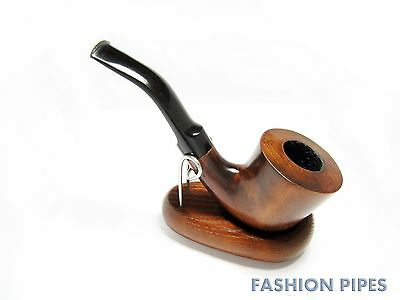 "Classic Genuine Pipe ""Sherlock Holmes"" Wooden Tobacco Smoking Pipe Bent 6''"