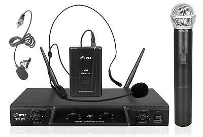 New Pyle Pro PDWM2115 Volume Control VHF Wireless Microphone Receiver System