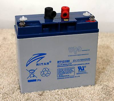 Ritar RT12180EV 12v 18ah - EV series battery -  BRAND NEW - 12M RTB warranty