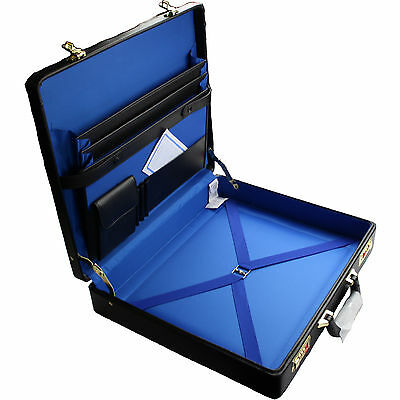 Masonic Regalia Case Master Mason Size - Real Leather with FREE NAME PLATE