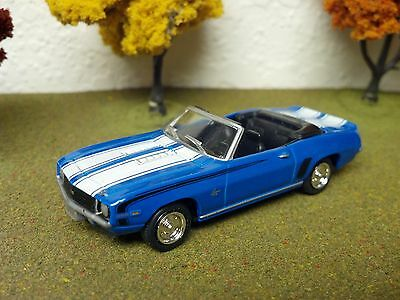 1969 CHEVY CAMARO SS CONVERTIBLE BLUE 1/64 SCALE LIMITED EDITION RUBBER