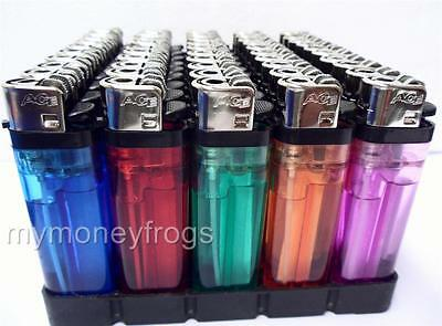 50 Regular Size Lighters New Lighter Wholesale Assorted Display Disposable LOT