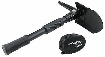 Yellowstone Mini Folding Shovel Heavy Steel Pick With Black Handy Carry Pouch