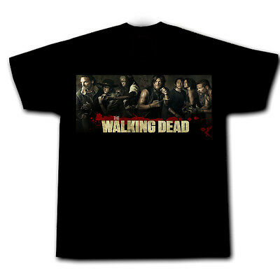 THE WALKING DEAD CAST Zombie Season 5 Daryl Rick Michonne Carol Glenn mens tee