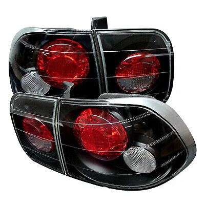 SPYDER ALT YD HC96 4D BK Pair Black Euro Style Tail Lights for 96-98 Civic 4Dr