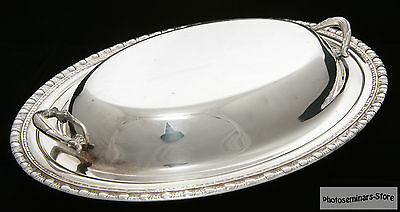 1847 Rogers Bros. Vintage Silverplate Tray with Lid (#718)