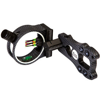 NEW CARBON FIBRE OPTIC BOW SIGHT FOR COMPOUND BOW w/ LED LIGHT HUNTING ARCHERY
