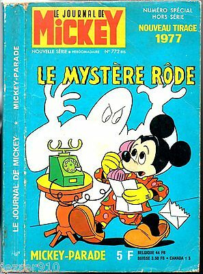 MICKEY PARADE n°772 bis ° TIRAGE 1977 ° LE MYSTERE RODE