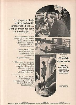 Lee Marvin Angie Dickinson 1968 Ad- Point Blank/John Boorman an amazing job