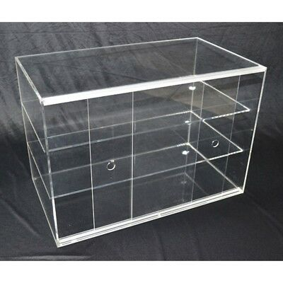 LARGE CAKE BAKERY MUFFIN DONUT PASTRIES 5mm ACRYLIC DISPLAY CABINET