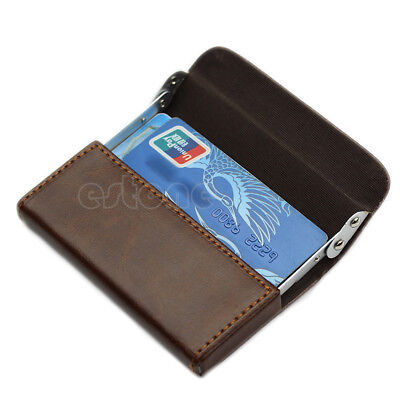 New Gentleman Leather Business Name Credit ID Cards Holder Wallet Case